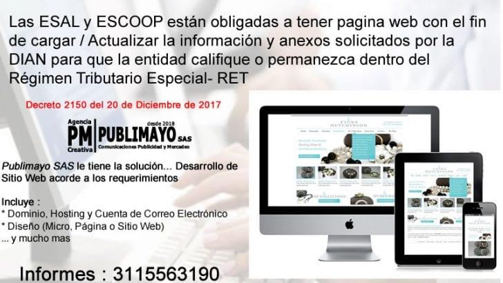 Desarrollo Web para Entidades sin Ánimo de Lucro (ESAL) y Entidades del Sector Cooperativo (ESCOOP)