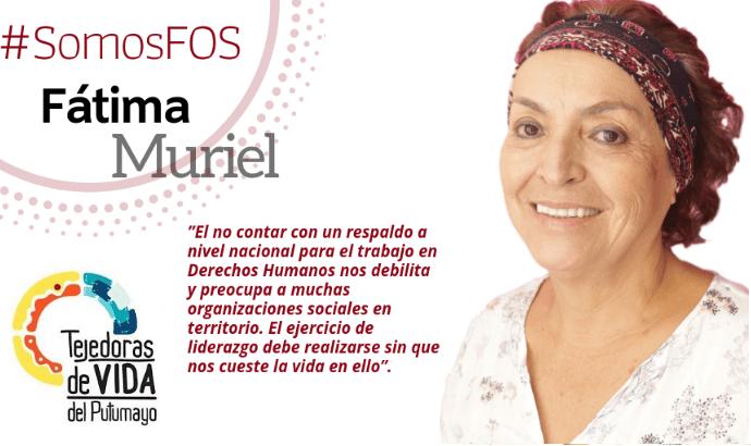 Retratos de líderes de organizaciones apoyadas por FOS: Fatima Muriel – Tejedoras de Vida