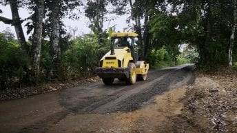 Mejoramiento vial en el Valle del Guamuez