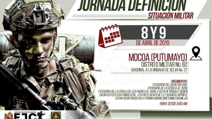 Jóvenes del Putumayo a definir su situación militar