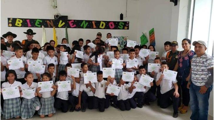 En Puerto Caicedo, Unidad Básica de Carabineros clausura del Programa Escolarizado en Prevención