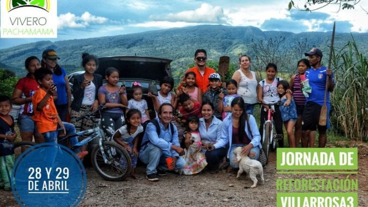 Fundación Vivero Pachamama lidera sembraton de árboles en Mocoa