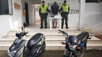 A través de seguimiento por cámaras del CCTV de la Policía de Mocoa, se logra la captura en flagrancia de atracadores de motos en Villagarzon