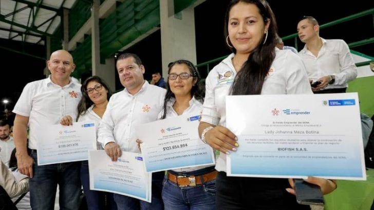 Más de $750 millones se entregaron en condonaciones y cheques simbólicos a emprendedores en Putumayo
