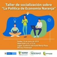 Socialización en Putumayo sobre la Política de Economía Naranja