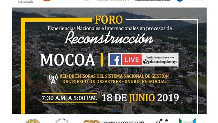 En Mocoa, Foro Experiencias Nacionales e Internacionales en procesos de reconstrucción