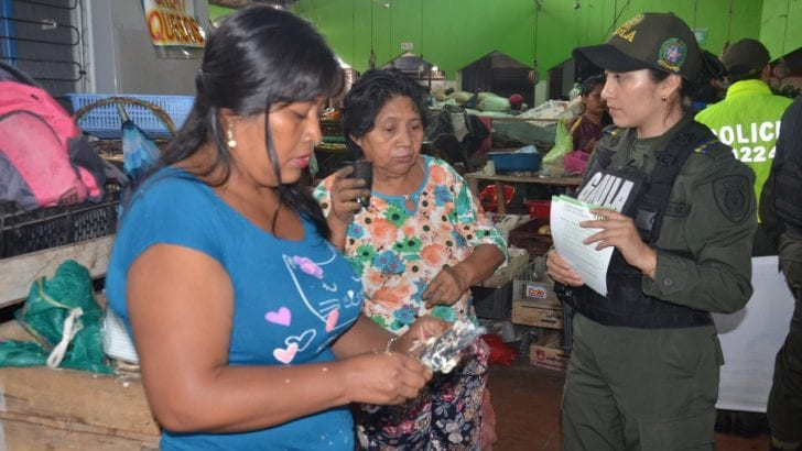 Nos tomamos la plaza de mercado del municipio de Mocoa con comando situacional