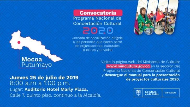 jornada de socialización del Programa Nacional de Concertación Convocatoria 2020
