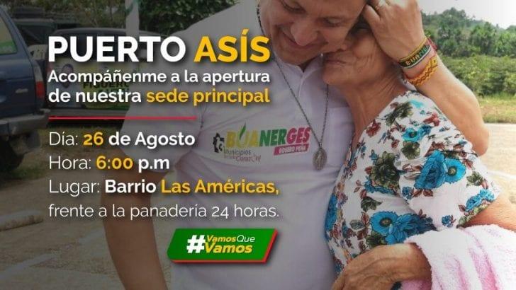 Este 26 de Agosto, inauguramos sede en Puerto Asís°
