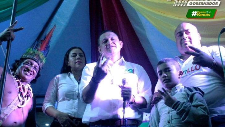 Desbordante Puerto Asís con Candidatos Buanerges Rosero – Gobernador y Fernando Castillo – Alcalde