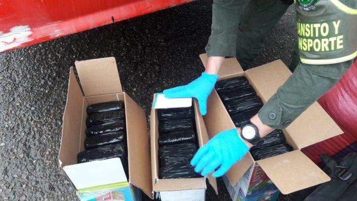Incautados 24 kg de Marihuana en vías del Putumayo