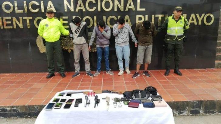 Desarticulada banda de atracadores y piratería terrestre en Putumayo