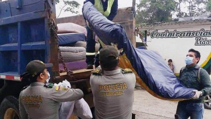 La Policía Nacional incauta colchones y almohadas por incumplimiento de las normas sanitarias