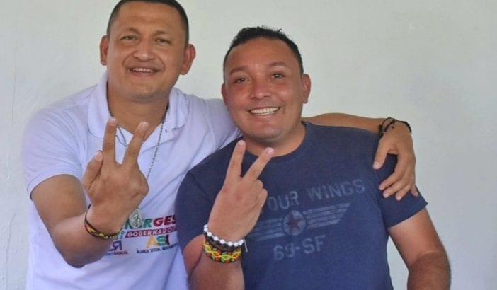 Reinaldo Velasquez con Buanerges Rosero