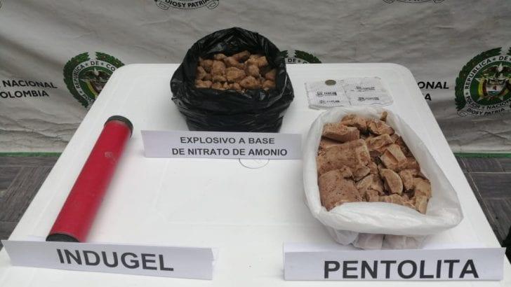 La Policía Nacional descubre caleta con explosivos en zona rural de Villagarzón