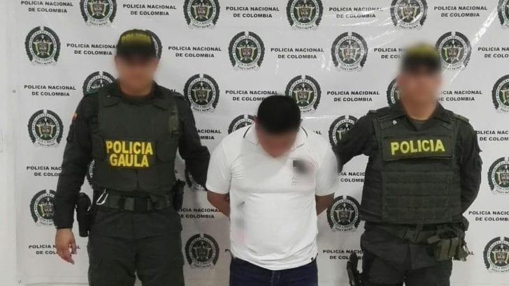 Capturado en flagrancia una persona quien exigía la suma de 5 millones de pesos a un comerciante