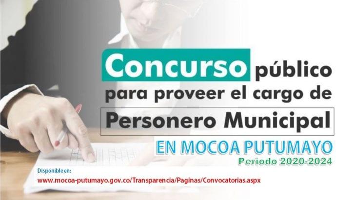 Concurso Público para proveer el cargo de Personero Municipal en Mocoa – Putumayo