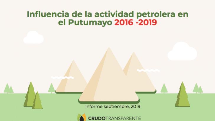 Influencia de la actividad petrolera en el Putumayo 2016 – 2019