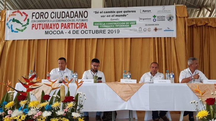 Foro Putumayo Participa – Candidatos a la Gobernación del Putumayo