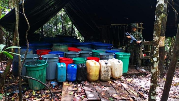 Ejércitos de Colombia y Ecuador combaten el narcotráfico