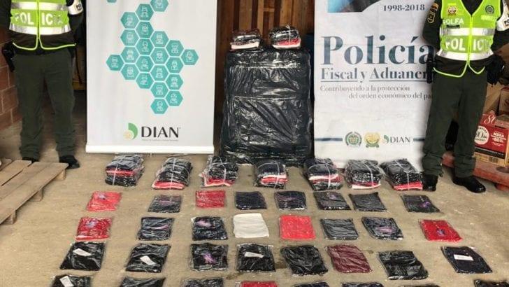 Incautados mas de 151 millones de pesos en mercancías ilegales