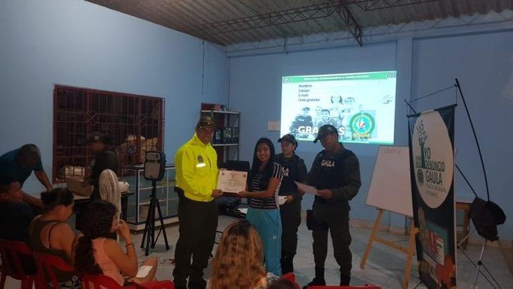 Gaula de la Policía en Putumayo, realizó el Segundo curso antiextorsión dirigido a comerciantes.