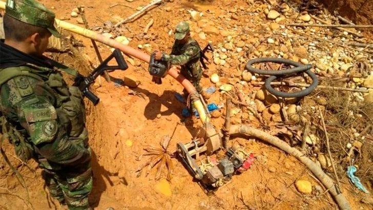 Incautado material para Minería Ilegal en Putumayo