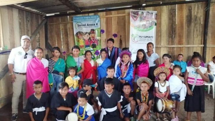 Menores de la comunidad indígena Camentsa Biya de Mocoa disfrutaron Encuentro Cultural