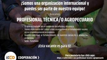 Clasificado – Se Busca Profesional Técnica/o Agropecuario