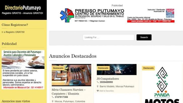 DirectorioPutumayo.com.co, el verdadero directorio GRATIS para los putumayenses