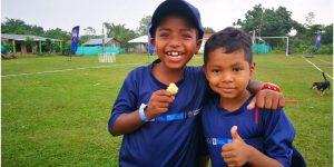 Niños y niñas de Puerto Asís son protagonistas del festival de la Fundación Barça y Gran Tierra Energy