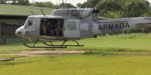 Armada de Colombia realiza perifoneo aéreo en las comunidades fronterizas del Putumayo