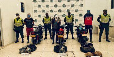 Tres personas fueron capturadas en flagrancia con 24 kilogramos de base de coca.