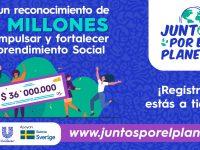 «Juntos Por El Planeta» convocatoria para Emprendimientos Sociales que brinden soluciones innovadoras al problema del plástico