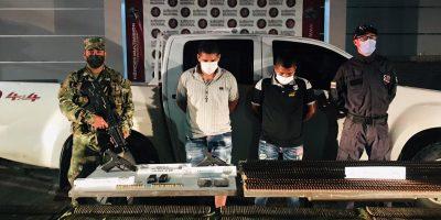 Capturadas dos personas e incautadas 5mil unidades de munición transportado en vehículo de la UNP