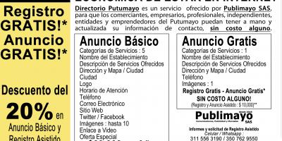 Directorio Putumayo, la forma fácil, económica y efectiva de estar en Internet